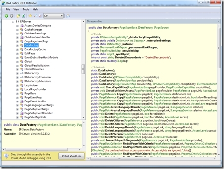 EPiServer DataFactory viewed in Reflector