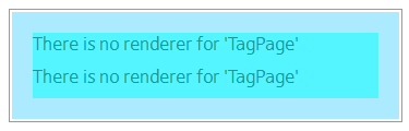 There is no renderer for 'page type name' messages